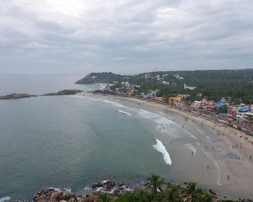 View from Lighthouse to Kovalam Beach